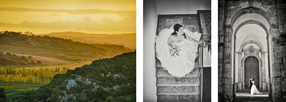 Wedding Story Sunset Rustic Landscape Obidos Portugal