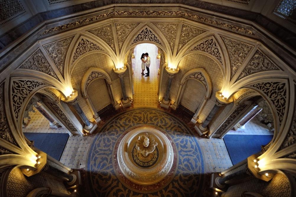 palacio Monserrate Sintra dourado magico sessao noivado casamento
